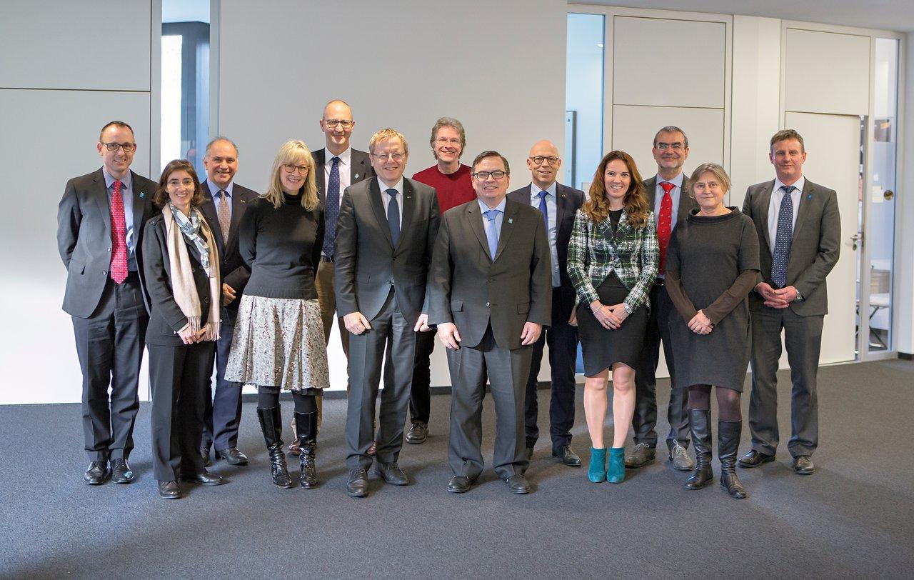 ESO and ESA representatives at ESO