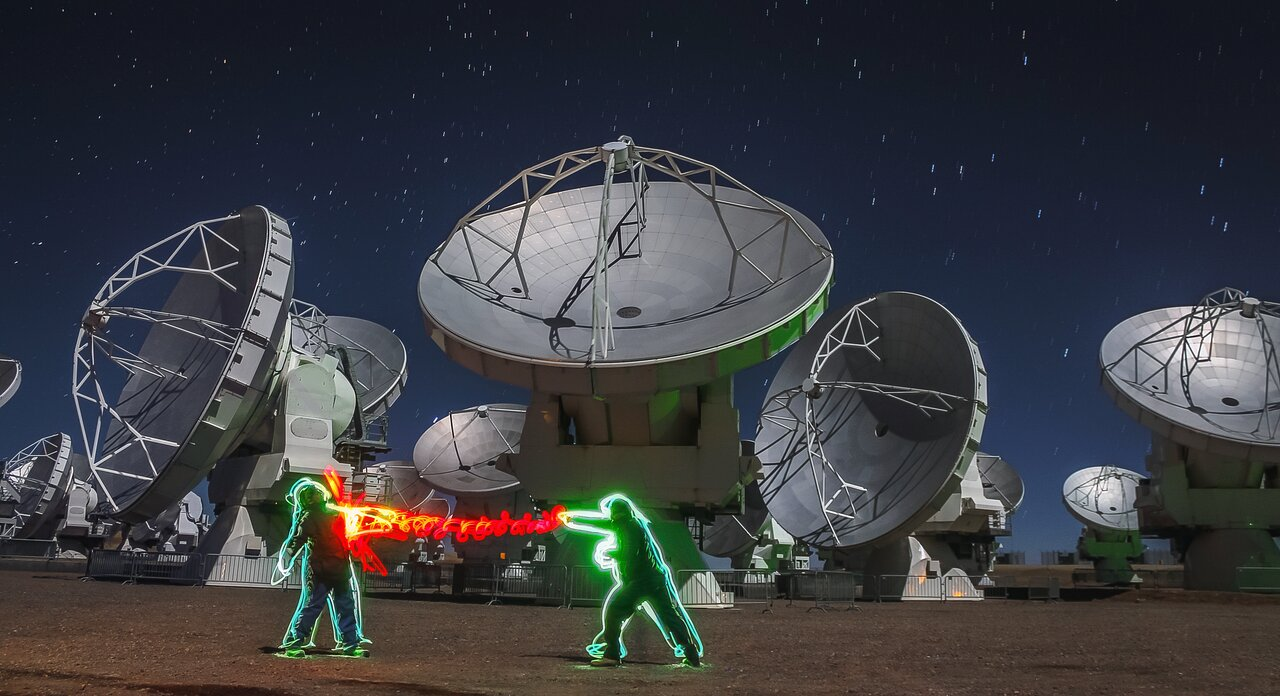 Light play at ALMA