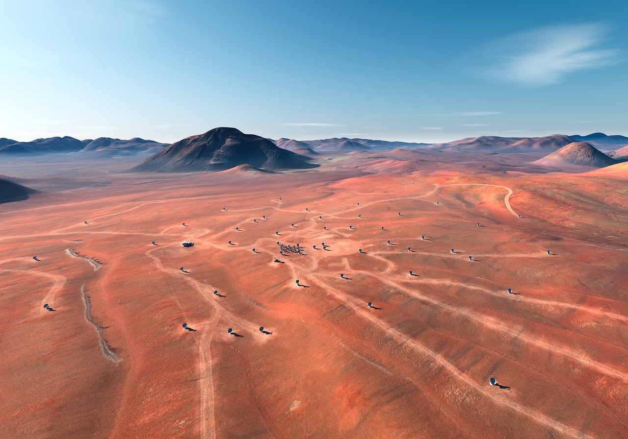 Mounted image 162: ALMA Site (artist's impression)