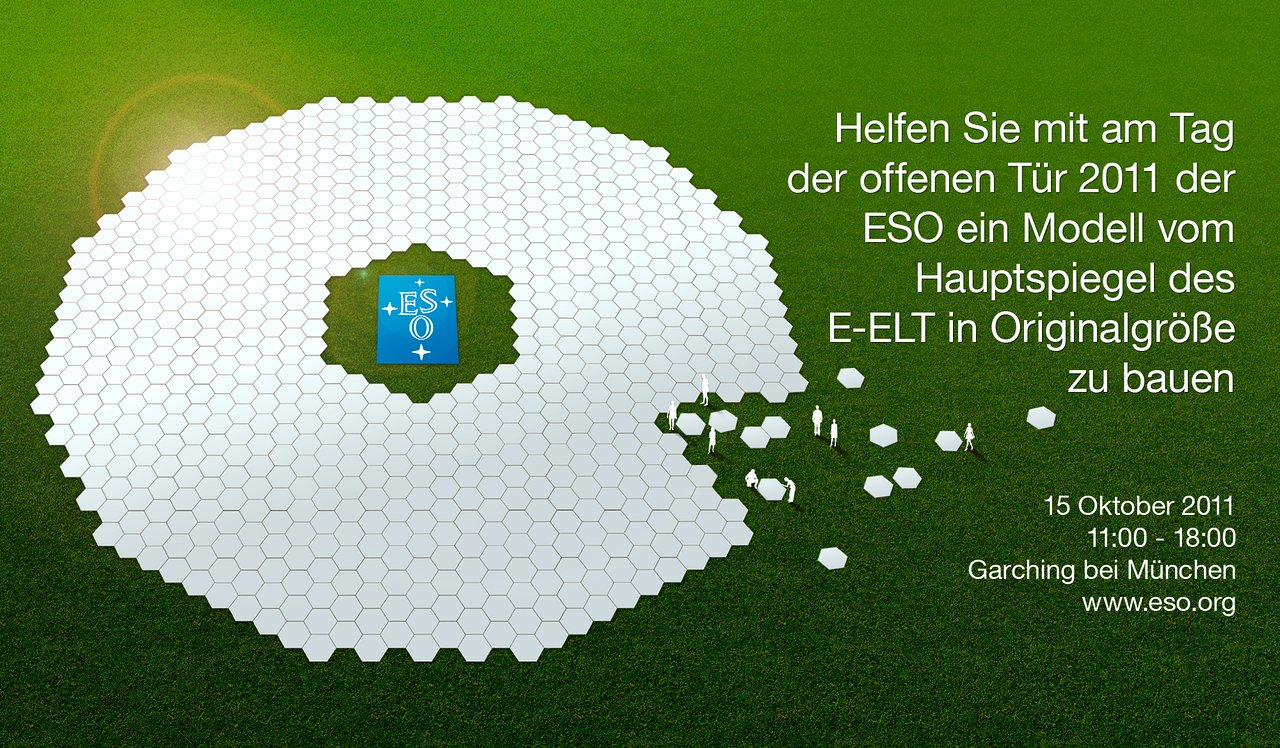 Open House at ESO 2011: Help build a full-size model of the E-ELT ...