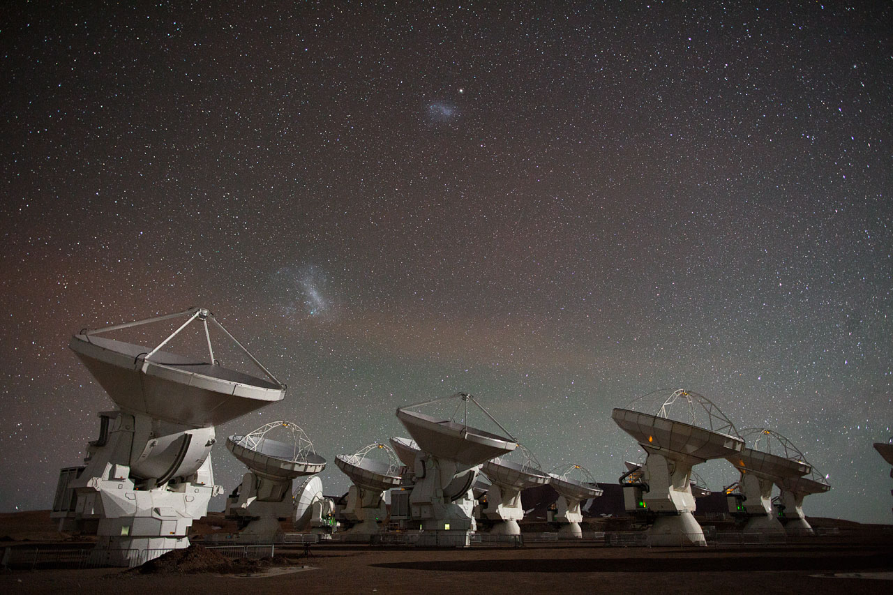 Still from ALMA time-lapse video compilation 2012