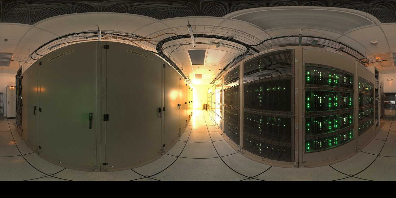 A 360 degree image of the ALMA correlator room