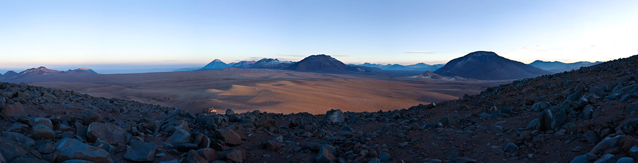 Mounted image 004: Chajnantor plateau from the south at sunrise in 2007