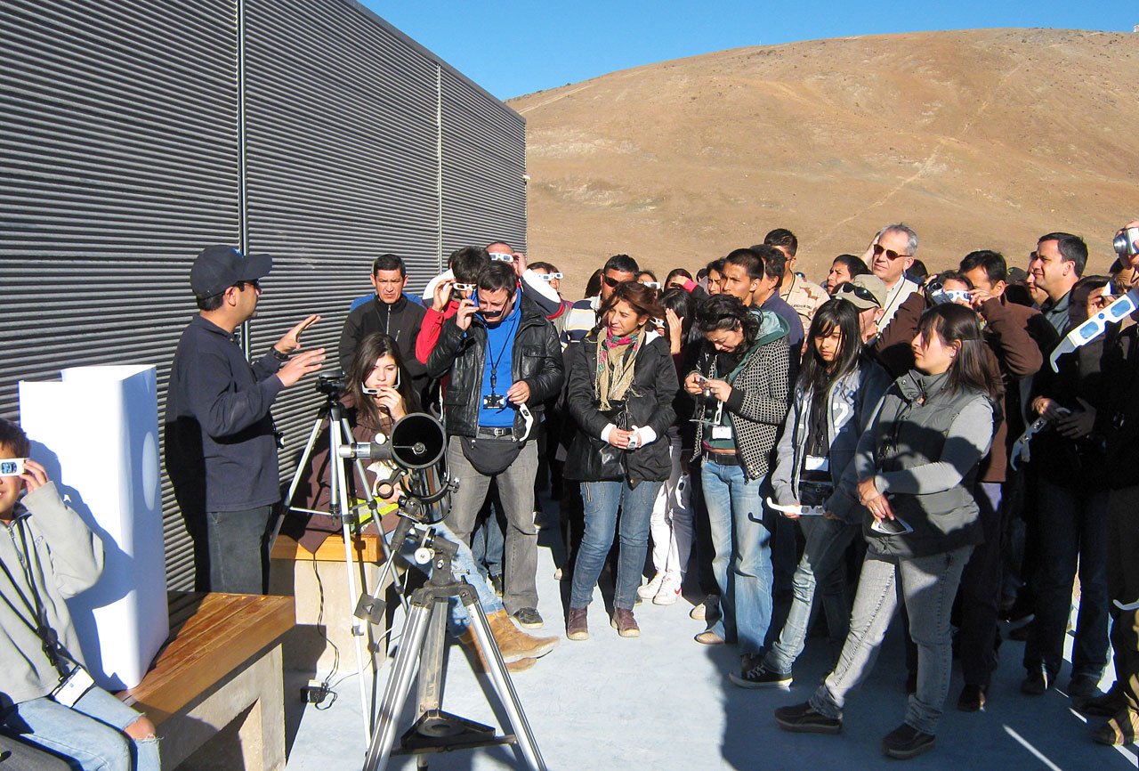 Watching partial solar eclipse from Paranal