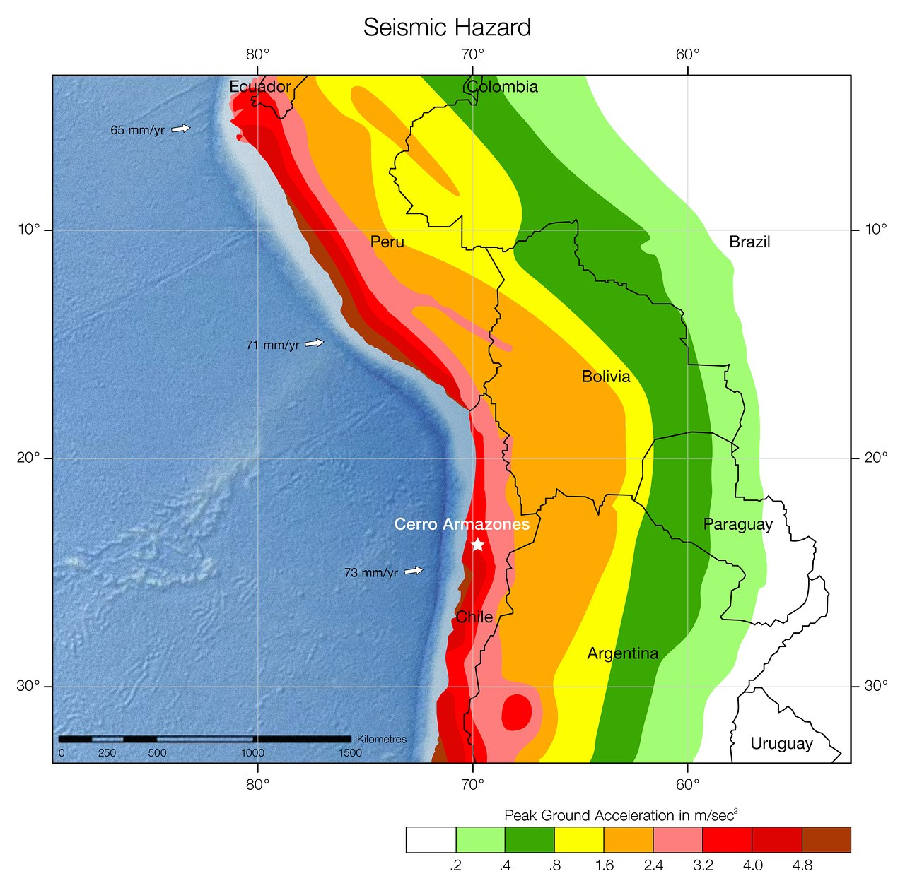 Seismic hazard in Chile