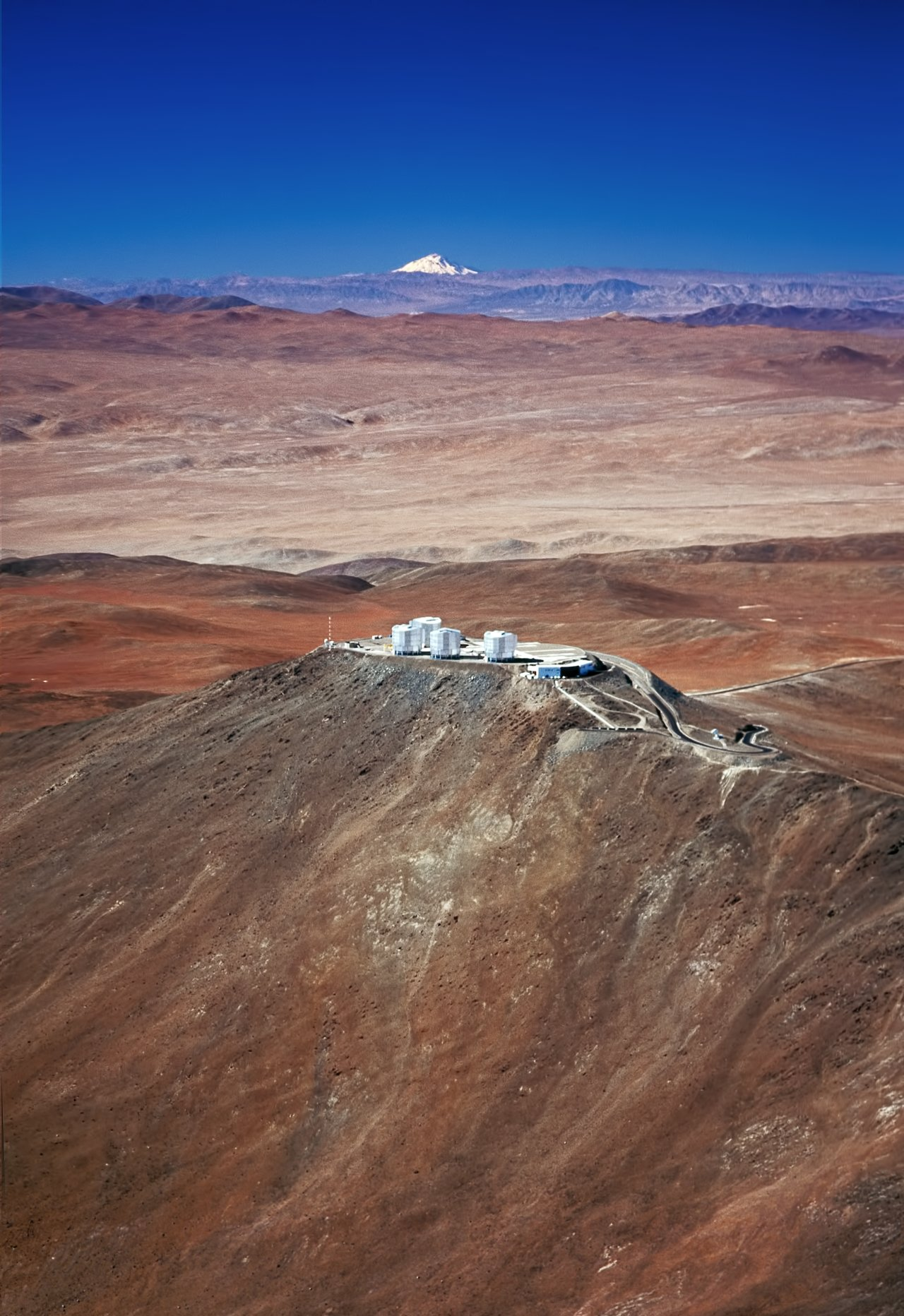 Mounted image 013: Paranal Observatory and the volcano Llullaillaco