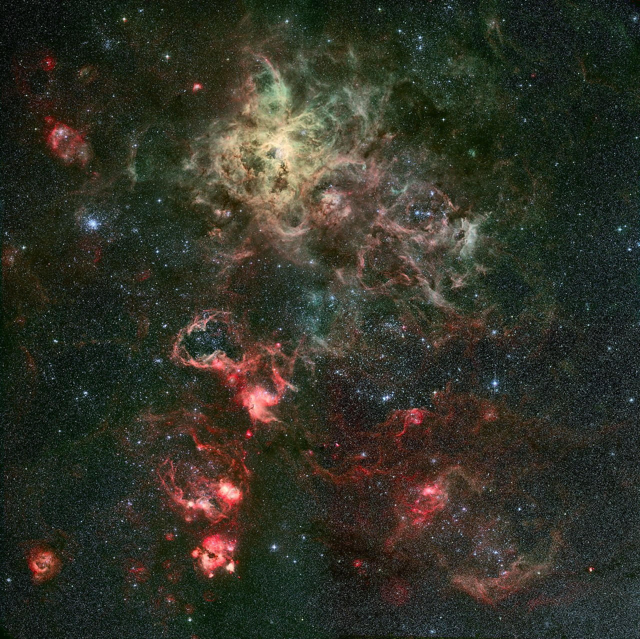 Mounted image 030: Portrait of a dramatic stellar nursery