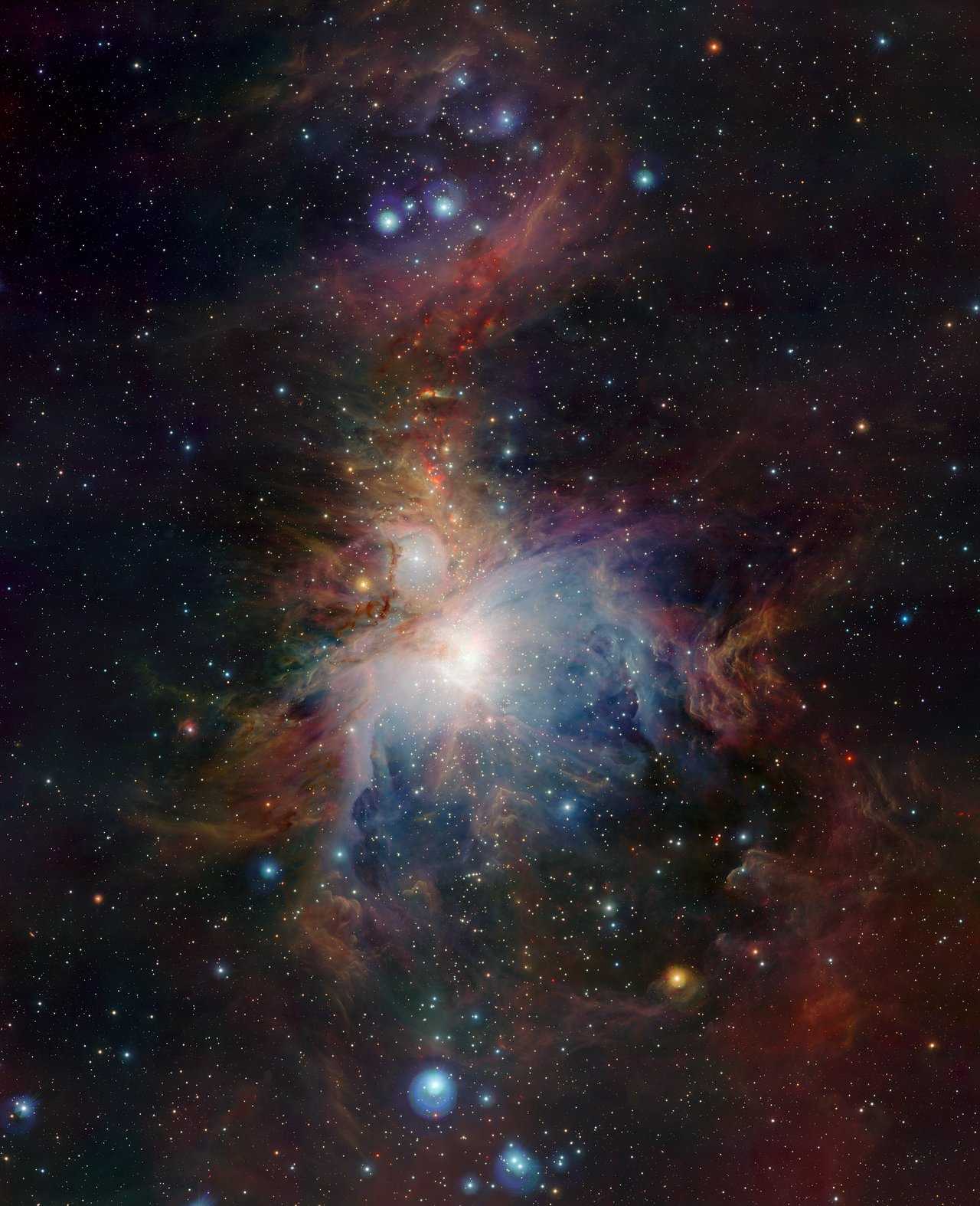 Mounted image 117: VISTA's infrared view of the Orion Nebula