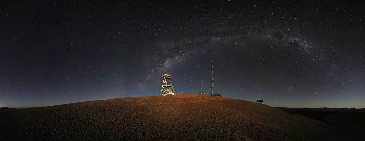 Mounted image 119: Cerro Armazones night-time panorama