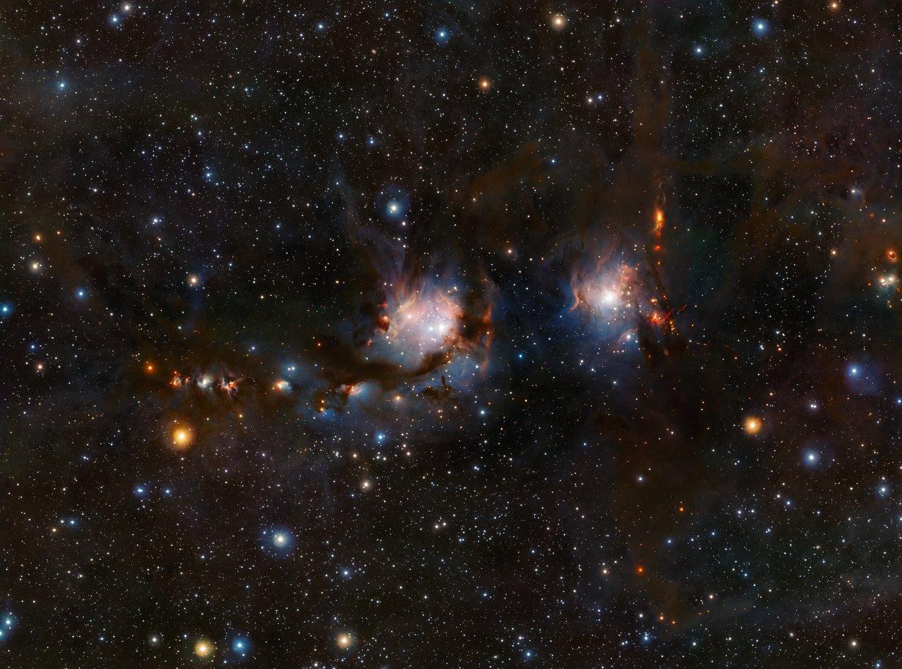 Widefield billede af M78 taget med ESOs VISTA