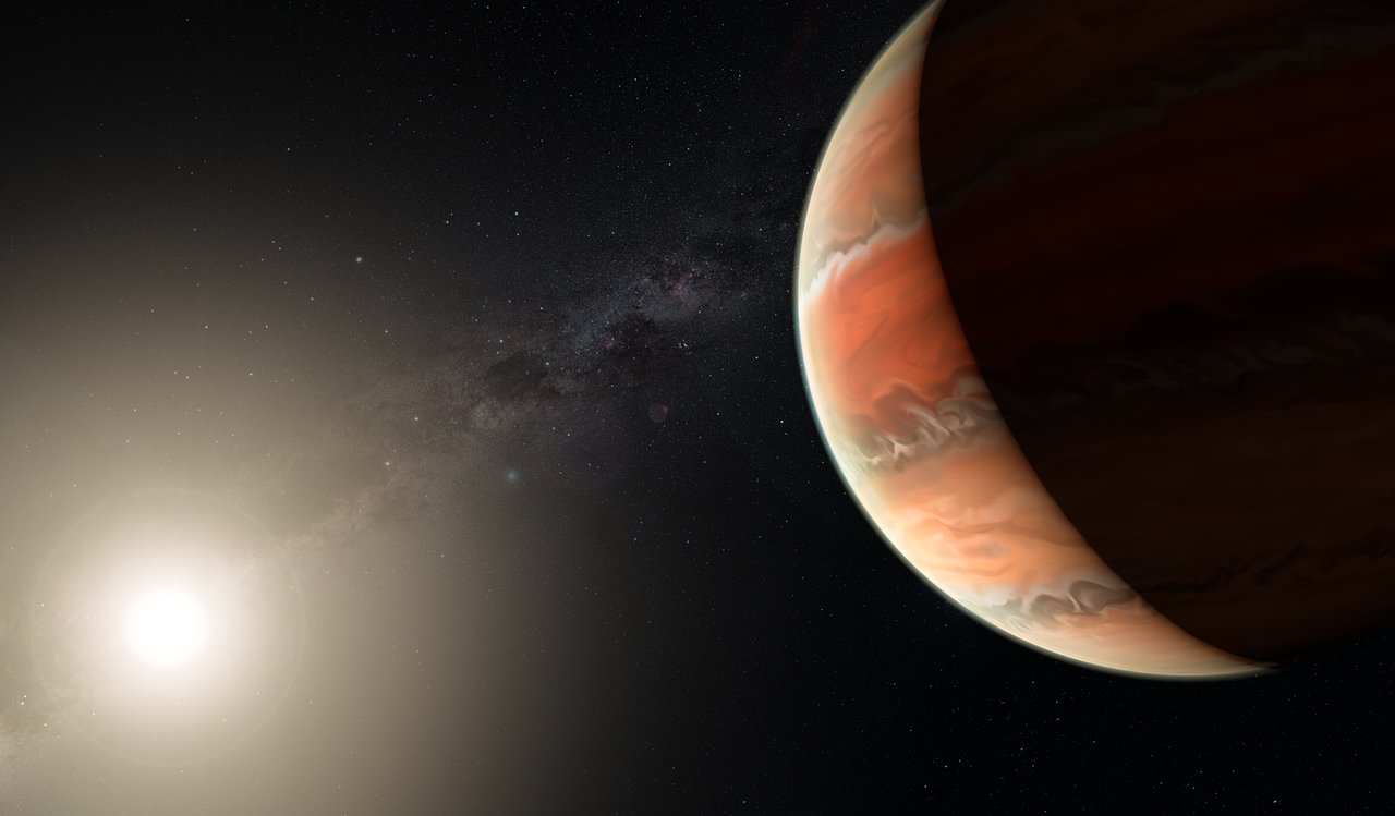 Artist's impression of the exoplanet WASP-19b