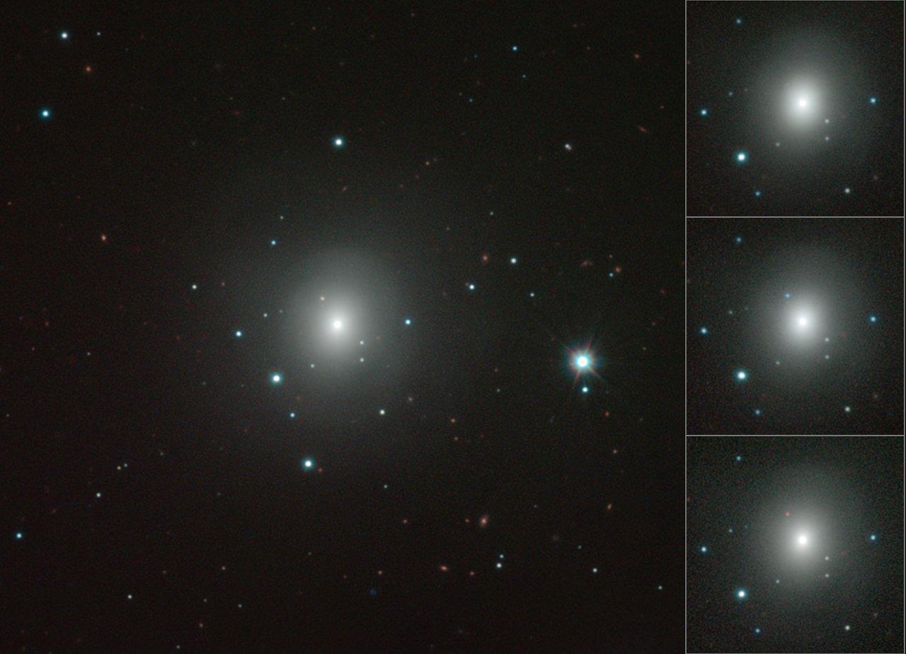 Mosaic of VISTA images of NGC 4993 showing changing kilonova