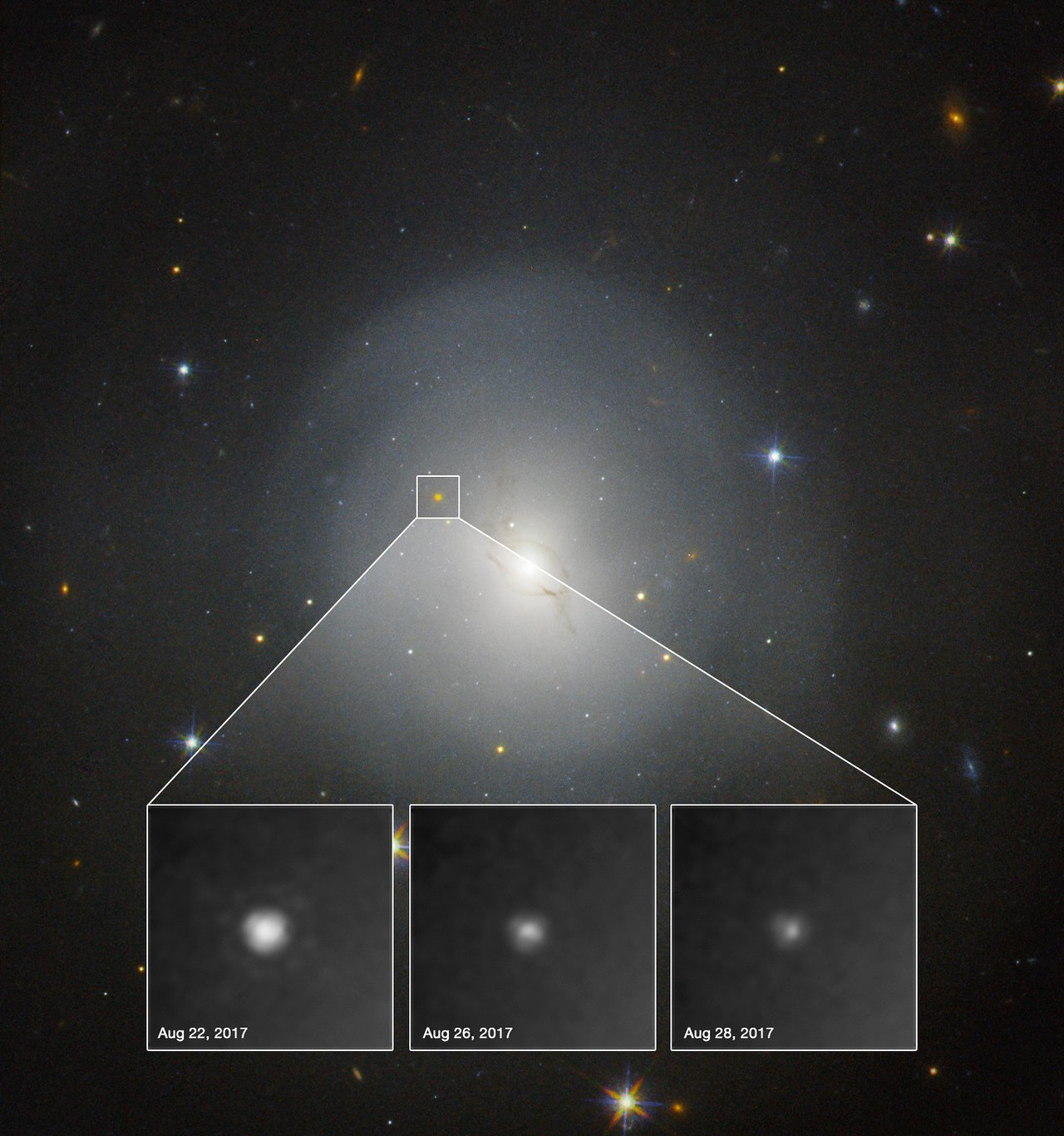 ESO Telescopes Observe First Light from Gravitational Wave