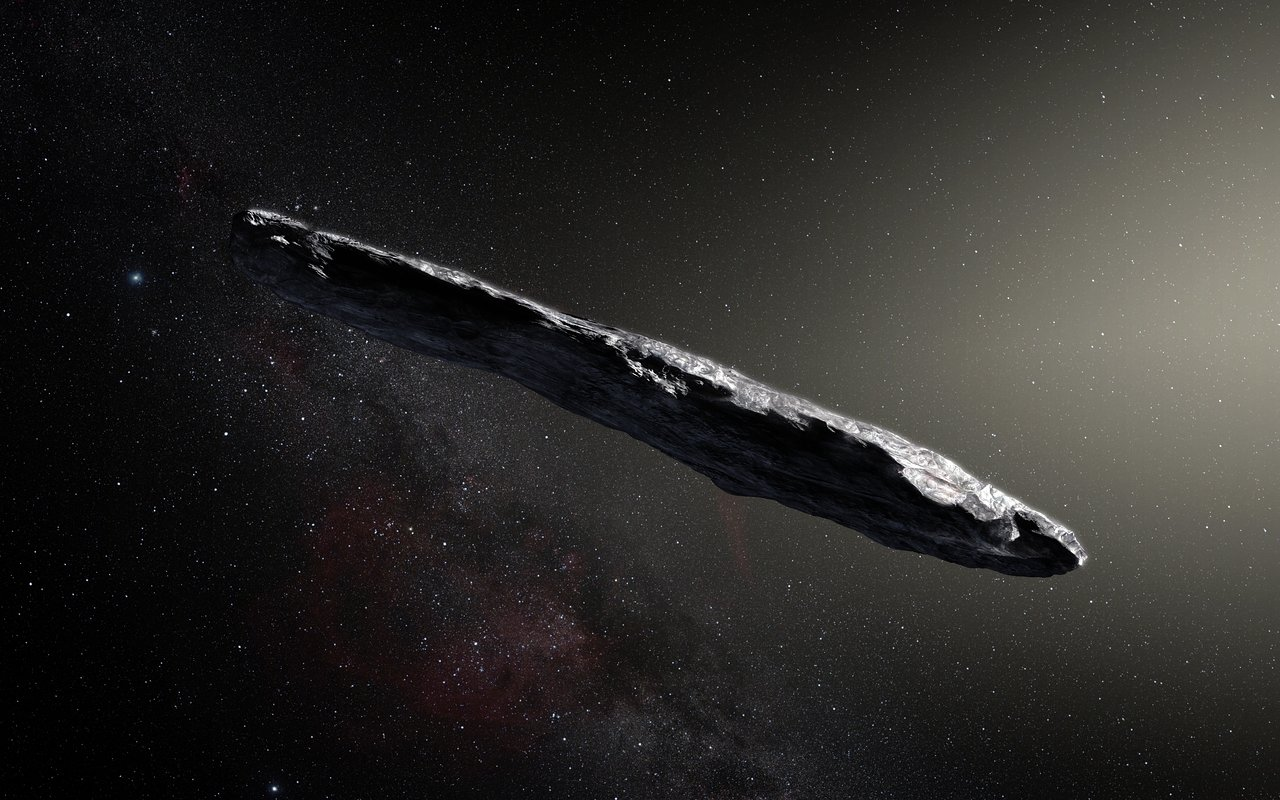 Humankind's first glimpse of an interstellar asteroid - `Oumuamua