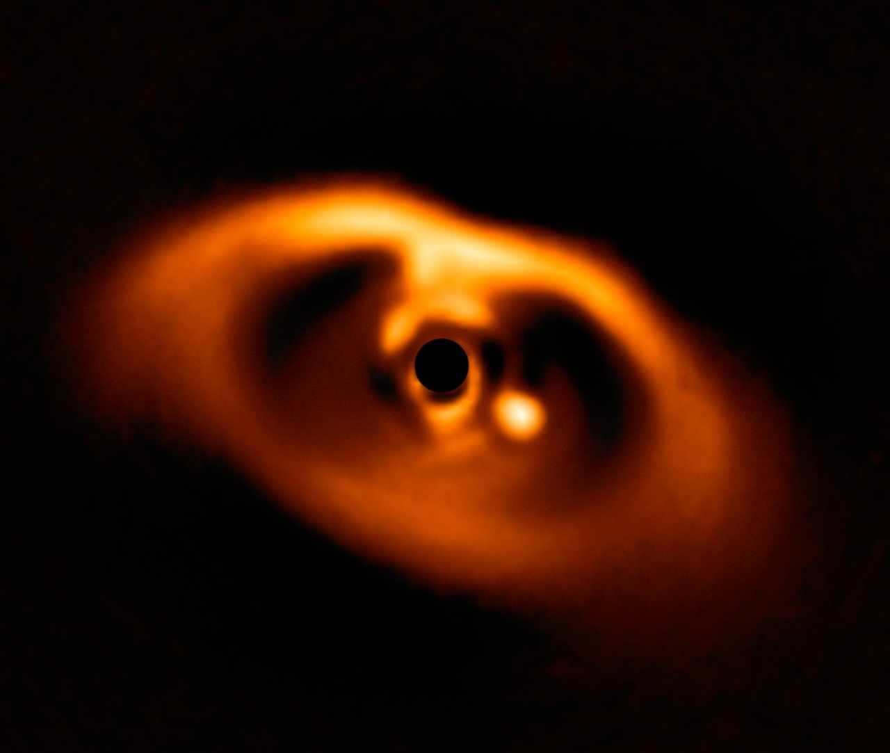 SPHERE image of the newborn planet PDS 70b