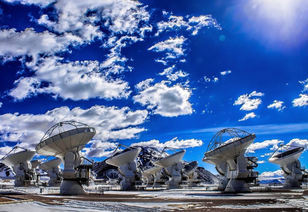 ALMA during the daytime.  Credit:  J. C. Rojas/ESO.