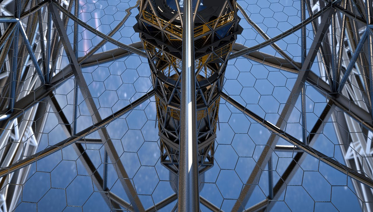 Close-up of ELT primary mirror (artist's impression)