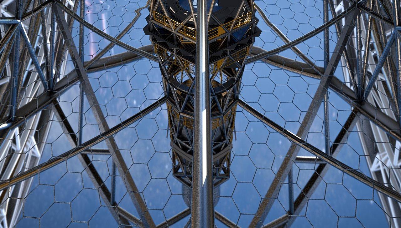 Close-up of ELT primary mirror (artist's impression)