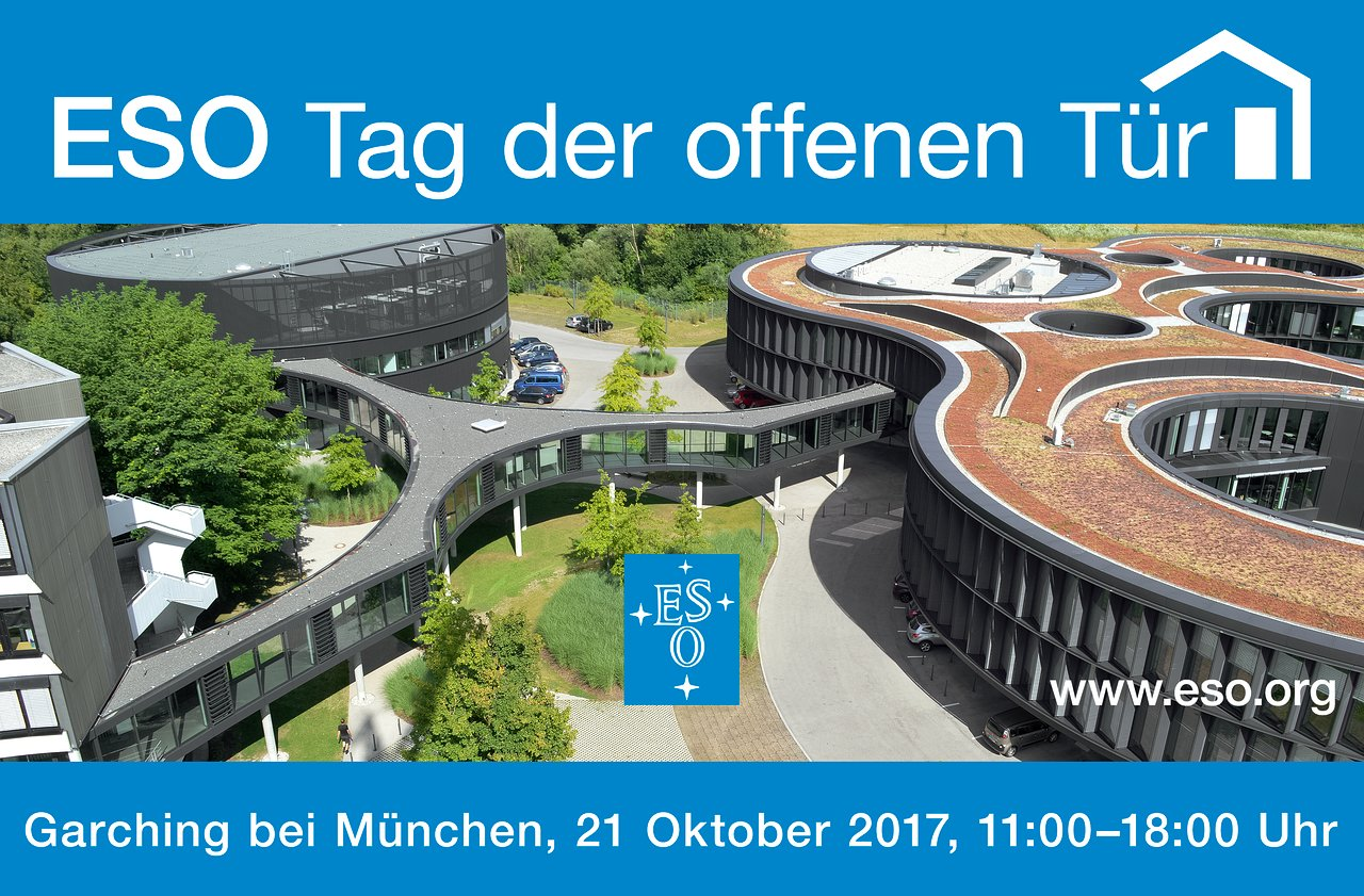 Programme For The Eso Open House Day 2017 Now Available Eso Nederland