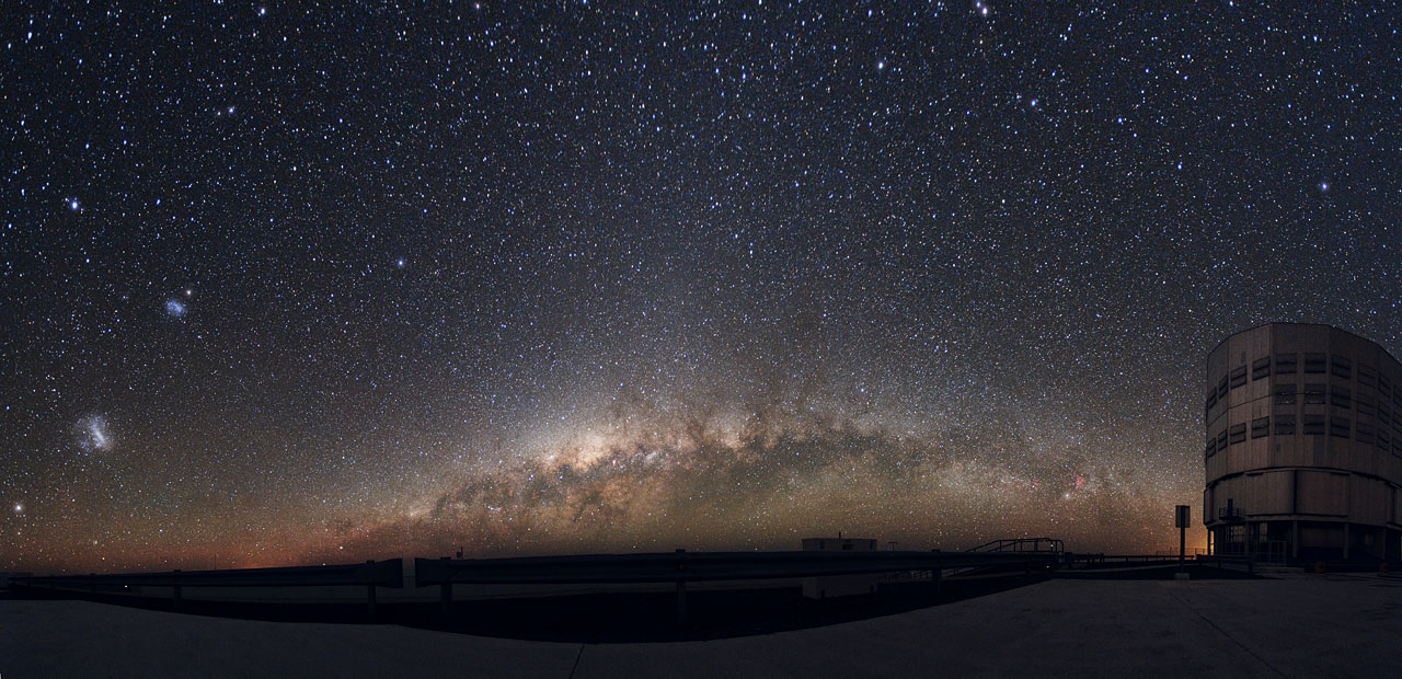 panoramic photograph of night sky