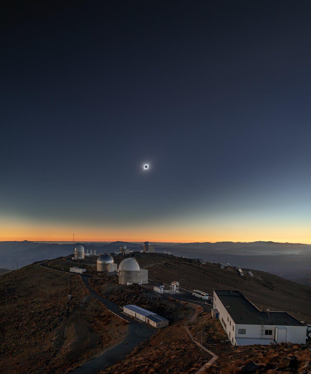 Memory of the Solar Eclipse Above La Silla
