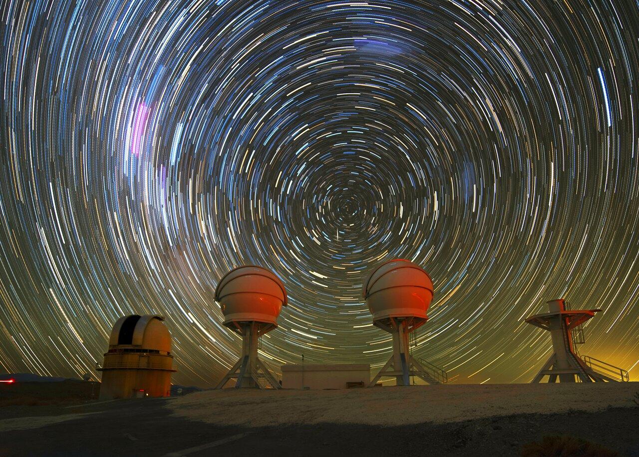 Star trails above BlackGEM