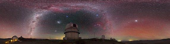 View above the Danish 1.54-metre telescope
