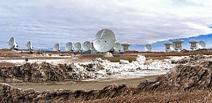 ALMA antennas at the operations support facility (OSF)