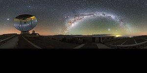 Milky Way over the Swedish-ESO Submillimetre Telescope