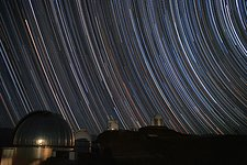 Star trails over the MPG/ESO 2.2-metre telescope