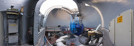 Panoramic view of the ESO 3.6-metre telescope's dome
