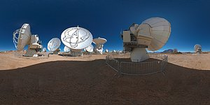 Stitched panorama view of ALMA