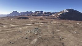 The future ALMA array on Chajnantor (artist's rendering)