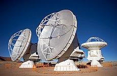 The first ALMA antennas on Chajnantor