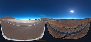 Panorama at the entrance of Paranal