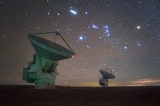 Southern stars over ALMA