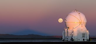 Moonrise behind an AT