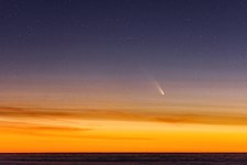Comet Streaking Across the Sky
