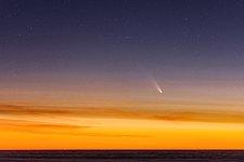 Comet Streaking Across the Sky