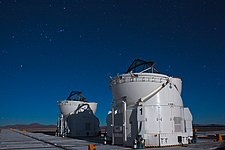 VLT Auxiliary Telescopes under the Orion Constellation