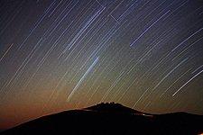 Star trails over VLT