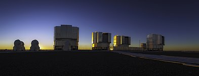 Very Large Telescope at Sunrise