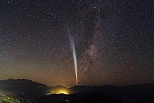 Comet Lovejoy over Santiago