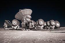 Snowy ALMA Antennas