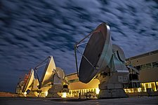 ALMA antennas among cloud