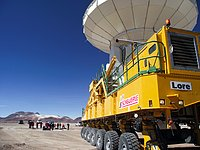 ALMA's 9th antenna takes its position at the AOS