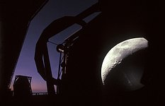 A VLT Unit Telescope and the Moon