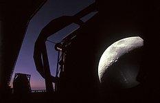A VLT Unit Telescope and the Moon