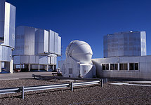 The AT1 and the domes of the 8.2-m Unit Telescopes