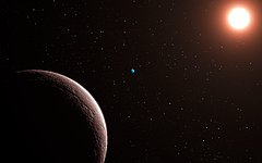 Artist's impression of the newly discovered planetary system Gliese 581
